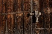 Houten deurklink