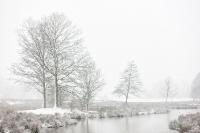 Sneeuwstorm boven de Regge